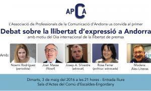 L'APCA organitza un debat per avaluar la situació de la llibertat de premsa al país