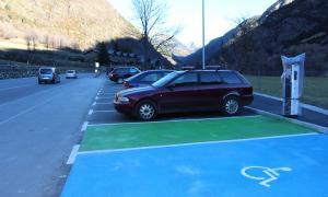 L'aparcament d'Arans.