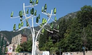 L'arbre de vent presentat aquest dijous a Andorra la Vella.