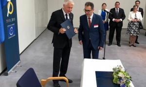 El representant permanent del Govern d'Andorra prop del Consell d'Europa, l'ambaixador Josep Areny, abans de la ratificació del Protocol 16 de la Convenció per a la salvaguarda dels drets humans i les llibertats fonamentals.