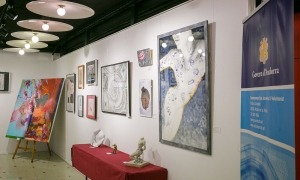 L'exposició amb les obres guanyadores del concurs d'art per a joves artistes que es pot visitar a la Llacuna.