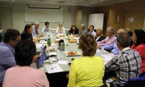 Un moment de la primera trobada d'Aules Sènior de les universitats de la Xarxa Vives