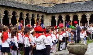 Una edició passada de les caramelles infantils a la Seu d'Urgell.
