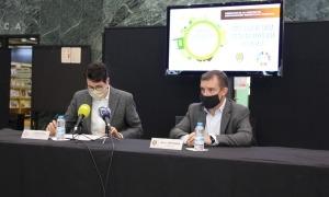 El director de BMS Consultoria Estratègica by BOMOSA Fundació, Albert Batalla, i el cònsol major de Sant Julià de Lòria, Josep Majoral.