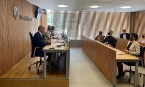 El ministre Joan Martínez Benazet ha comparegut aquest matí a la comissió legisaltiva de sanitat.