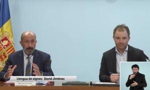 El titular de Salut, Joan Martínez Benazet, i el director de Protecció Civil, Cristian Pons.