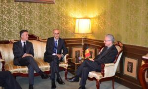 Martí i Mateu informen el copríncep episcopal de l'activitat parlamentària