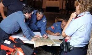 L'operatiu de rescat per localitzar l'excursionista desaparegut.
