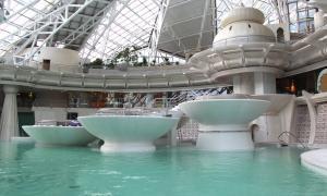 Caldea-Innú registra un 21% més de visitants que l'hivern del 2015 Interior del centre termolúdic de Caldea