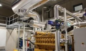 Una imatge de l'interior de la planta de cogeneració de Soldeu.