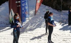 Bona collita de metalls andorrans al Campionat d'Espanya d'esquí de fons. Foto: FAE