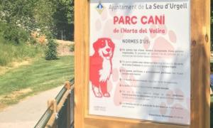 El parc caní de l'Horta del Valira.