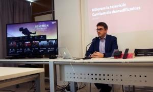 El portaveu d'Andorra Telecom, Carles Casadevall, en una compareixença anterior.