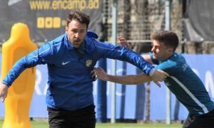 Víctor Casadesús, amb l'FC Andorra