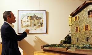 L'artista Jesús Castillo plasma el romànic andorrà a base de Rotring i aquarel·la