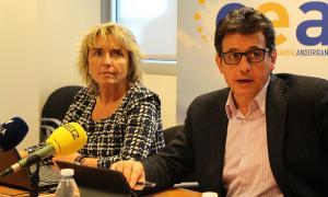 ANA/La directora de la CEA, Sílvia Gabarre, i el president, Xavier Altimir.