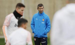 Albert Celades, entrenador del València