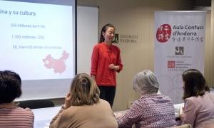 Una classe de xinès.