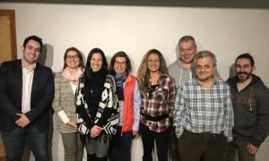 Els integrants del comitè parroquial de Liberals d'Andorra a Ordino.