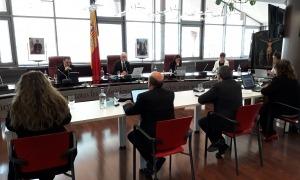 Un instant de la sessió de consell de comú celebrada aquest matí a Canillo.