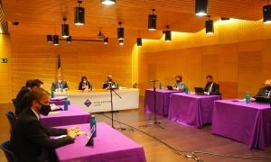 Un moment de la sessió del consoll de comú d'Encamp celebrada aquest matí al Pas de la Casa.