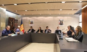 Un instant de la sessió de consell de comú celebrada aquest migdia.