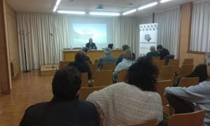 Un moment de la conferència de Vicente Martín.