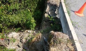 Un dels trams afectats denunciats pels veïns d'Auvinyà.