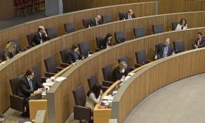 Un moment de la sessió del Consell General d'aquest dissabte.