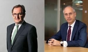 Xavier Cornella i José Luis Dorado, nous president i vicepresident d'Andorran Banking.