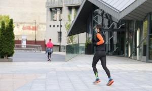 Les distàncies de seguretat entre els corredors s'han mantingut en el primer dia de desconfinament.