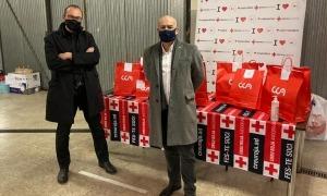 El president de la Creu Roja Andorrana, Josep Pol, i Francesc Compte, president de Rotary Club Andorra.
