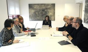 Un moment de la reunió del Consell Assessor del Patrimoni Cultural, presidida per la ministra de Cultura i Esports, Sílvia Riva.