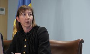 ANA/La ministra de Funció Pública, Eva Descarrega, durant una roda de premsa de l'any passat.