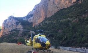 El rescat dels Bombers a Roques de Collegats, al Baix Pallars.