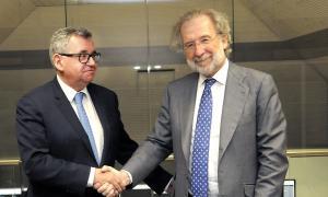 Moment de la signatura de l'acord entre FEDA i Endesa fa una setmana.