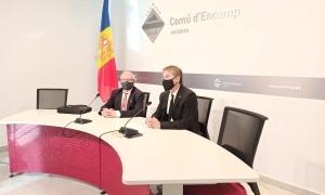 Els consellers de PS+Independents al Comú d'Encamp, Enric Riba i David Rios.