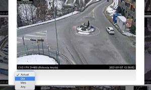 Es pot veure quin trànsit hi va haver el dia, el mes o l'any anterior.
