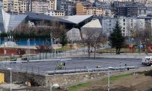 L'aparcament dels Veedors on es faran els concerts.