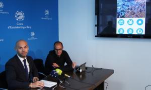 Jordi Vilanova, en la presentació de la nova aplicació mòbil del comú d'Escaldes-Engordany.