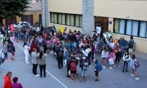 Alumnes en un centre escolar.