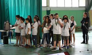 Els alumnes del Lycée Comte de Foix durant la presentació del seu projecte.