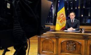 El cap de Govern, Xavier Espot, durant el seu discurs.