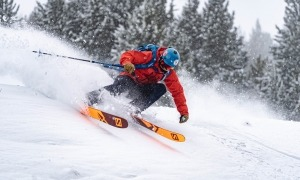 Un esquiador a Vallnors Pal Arinsal.