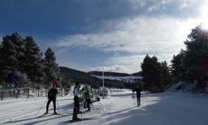 Esquiadors a La Rabassa.