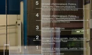 ANA/ Entrada a l'edifici que acull el departament d'Estadística del Govern.