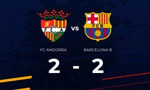 El partit virtual entre FC Andorra i FC Barcelona B acaba en taules