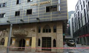 Diversos ferits per inhalació de fum a l'incendi de l'edifici de l'Hotel Eureka Diversos ferits per intoxicació a l'incendi de l'edifici de l'Hotel Eureka