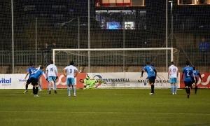 El porter internacional de l'Inter, José Antonio Gomes, va aturar un penal al descompte. Foto: Interescaldes.com
