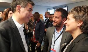 Pere López i Susanna Vela al congrés del PS francès.